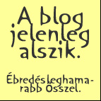 a blog alszik